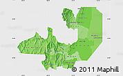 Political Shades Map of Salta, single color outside