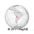 Outline Map of Salta