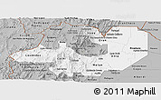 Gray Panoramic Map of Salta