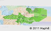 Political Shades Panoramic Map of Salta, lighten