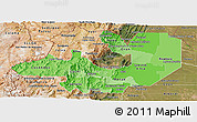 Political Shades Panoramic Map of Salta, satellite outside