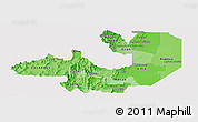 Political Shades Panoramic Map of Salta, single color outside