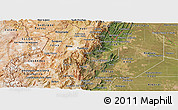 Satellite Panoramic Map of Salta
