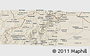 Shaded Relief Panoramic Map of Salta