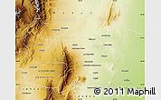 Physical Map of Rosario de la Frontera