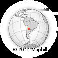 Outline Map of Rosario De La Frontera