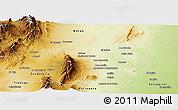 Physical Panoramic Map of Rosario de la Frontera