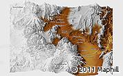 Physical Panoramic Map of San Carlos