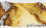Physical Panoramic Map of Jachal