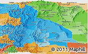 Political Shades Panoramic Map of San Juan