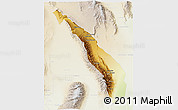 Physical 3D Map of Valle Fertil, lighten