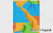 Political 3D Map of Valle Fertil