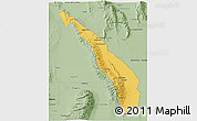 Savanna Style 3D Map of Valle Fertil