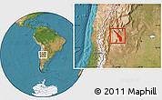 Satellite Location Map of Valle Fertil