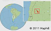 Savanna Style Location Map of Valle Fertil