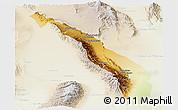 Physical Panoramic Map of Valle Fertil, lighten