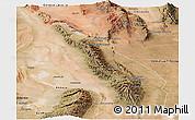 Satellite Panoramic Map of Valle Fertil