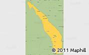 Savanna Style Simple Map of Valle Fertil