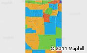 Political 3D Map of San Luis