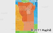 Political Shades 3D Map of San Luis