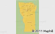 Savanna Style 3D Map of San Luis, single color outside