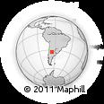 Outline Map of Coronel Pringles