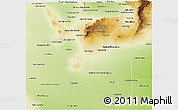 Physical Panoramic Map of San Luis