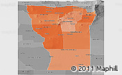 Political Shades Panoramic Map of San Luis, desaturated