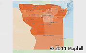Political Shades Panoramic Map of San Luis, lighten