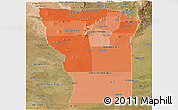 Political Shades Panoramic Map of San Luis, satellite outside