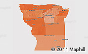 Political Shades Panoramic Map of San Luis, single color outside