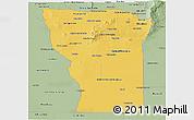 Savanna Style Panoramic Map of San Luis