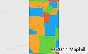 Political Simple Map of San Luis