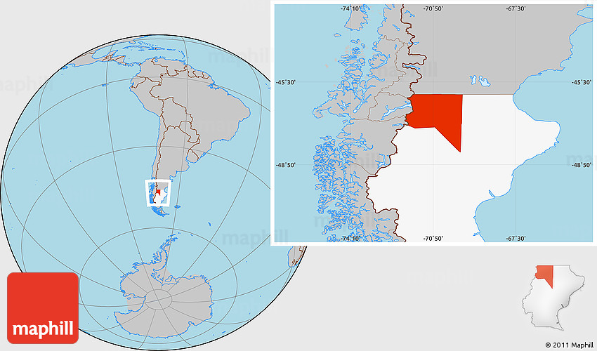 Buenos Aires Location On World Map.Gray Location Map Of Lago Buenos Aires Highlighted Parent Region