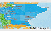 Political Shades Panoramic Map of Santa Cruz