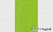 Physical Map of 9 de Julio