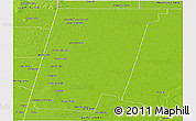 Physical Panoramic Map of 9 de Julio