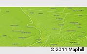 Physical Panoramic Map of Belgrano