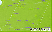 Physical Panoramic Map of Castellanos