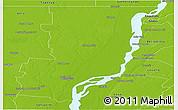 Physical Panoramic Map of General Obligado