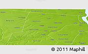 Physical Panoramic Map of Iriondo