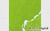 Physical 3D Map of La Capital