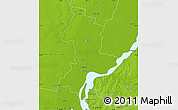 Physical Map of La Capital