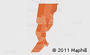 Political Shades Map of Santa Fe, cropped outside