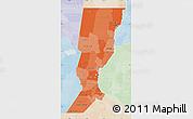 Political Shades Map of Santa Fe, lighten