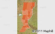 Political Shades Map of Santa Fe, satellite outside