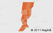 Political Shades Map of Santa Fe, single color outside