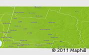 Physical Panoramic Map of San Cristobal