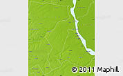 Physical Map of San Lorenzo