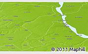 Physical Panoramic Map of San Lorenzo